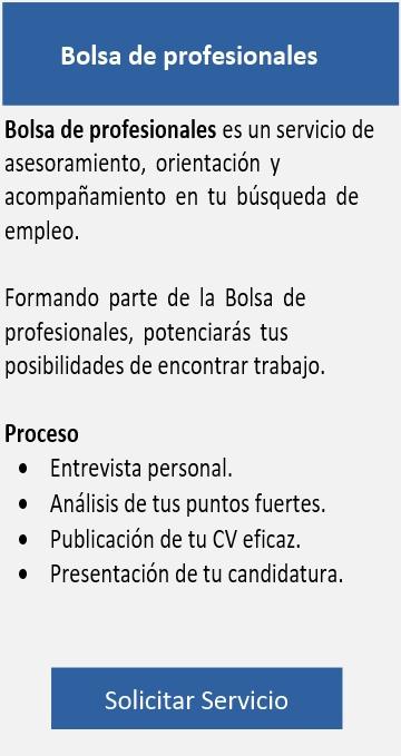 Bolsa de profesionales